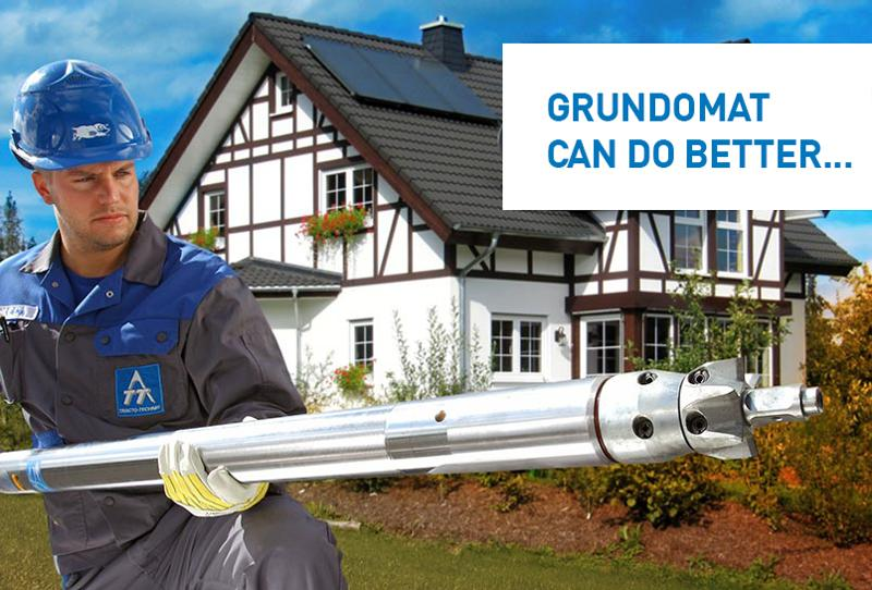 GRUNDOMAT - Special Advantages - Pipe installation
