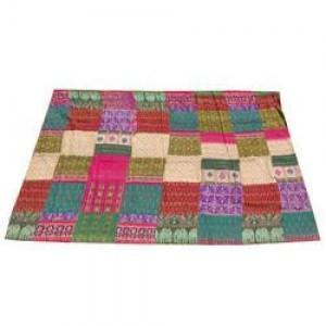 Tropical Reversible Kantha Quilt -