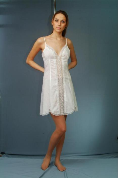 Cotton nightgown  with laces -