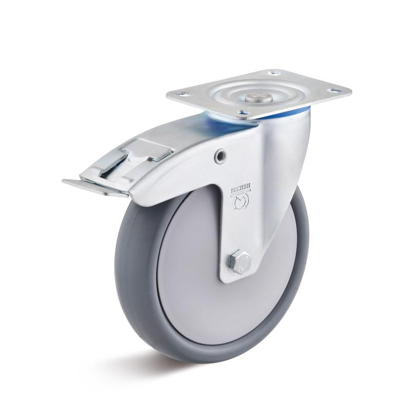 Thermoplastic rubber castors up to 220 kg