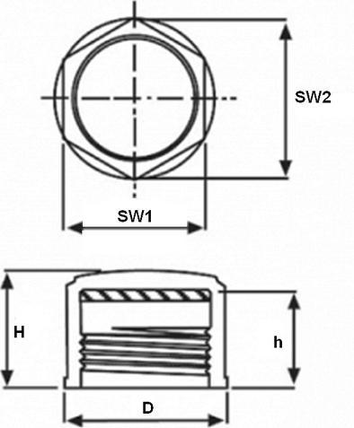 N302 - Capes taraudées universelles avec rondelle... - Protections pour filetages et axes