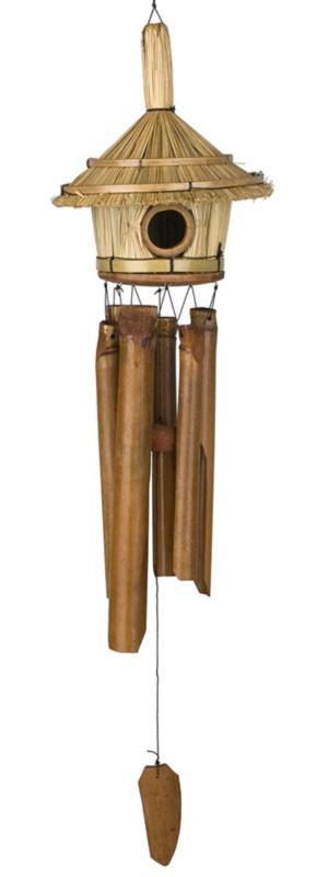 Carillon de jardin  vent bambou forme nid d'oiseau - Carillon nature zen