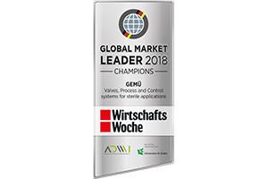 """GEMÜ foi destacada como """"Líder mundial de mercado 2018"""""""
