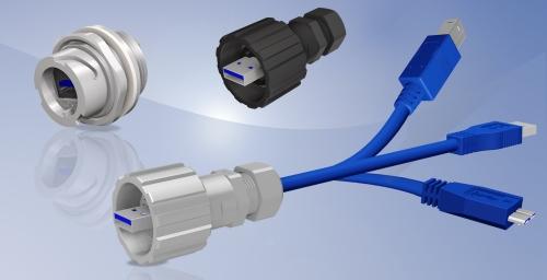 CONEC IP67 USB 3.0 Steckverbinderserie