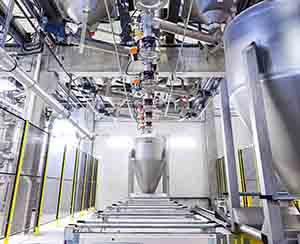 CIP-fähige Backmittelmischanlage mit 3D-Containersystem