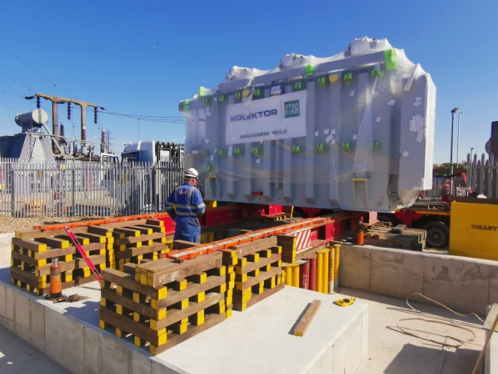 Delivering a 68Te transformer from Slovenia to Tilbury