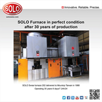 SOLO furnace in perfect condition after 30 years production