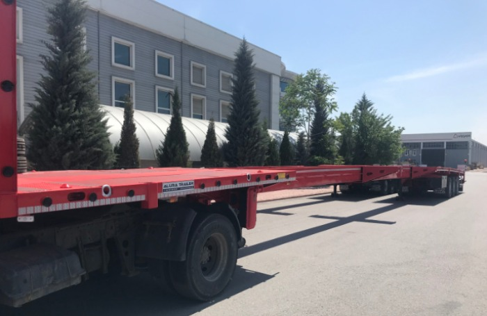 90 Ft Extendable Flatbed Trailer