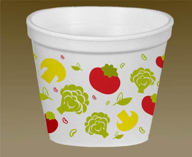Универсальный одноразовый контейнер для еды объемом 500 мл