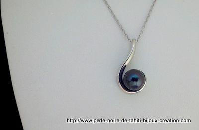 Collier Goutte d'eau 1 Perle de Tahiti