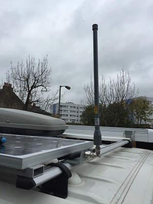 How to install a wifi antenna on your Motorhome Roof