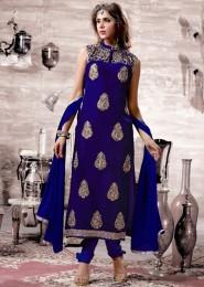 disigning crystal work nd fabric gargoet SalwarSuit