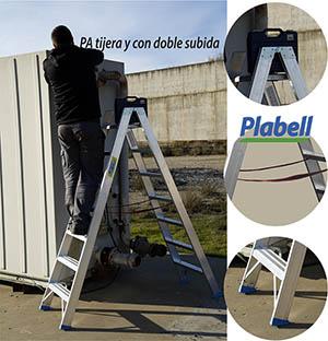 La PA, escalera doble subida en tijera, modificada
