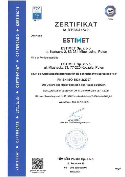 Positives Ergebnis des Zertifizierungsaudits