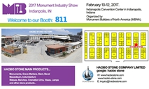 Haobo Stone is ready to attend 2017 Monument Industry Show