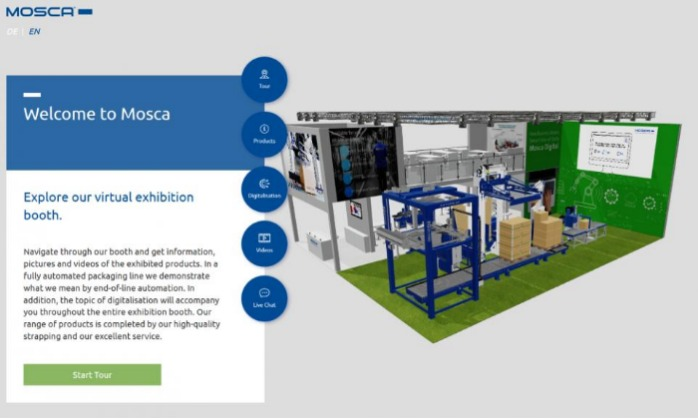 Mosca goes virtual with a digital exhibition booth