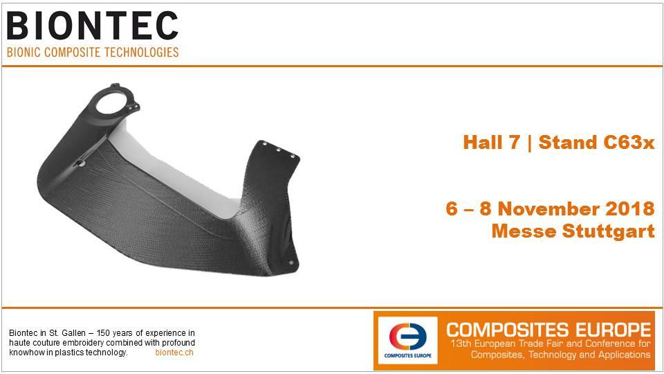 BIONTEC auf der Composites Europe 2018