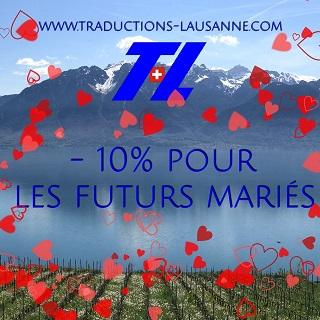 Futurs mariés : réduction de 10% sur vos traductions!