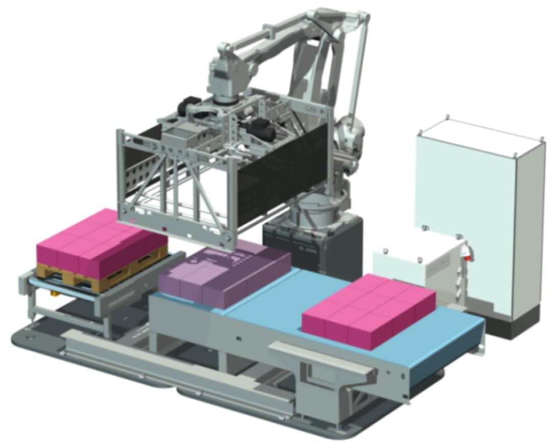 Langhammer presents a compact layer palletizing system