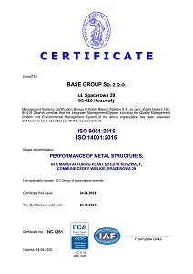 ISO 9001:2015 and 14001:2015