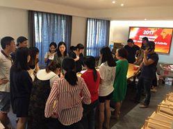 Haobo stone team activity for China Mid-Autumn festival day