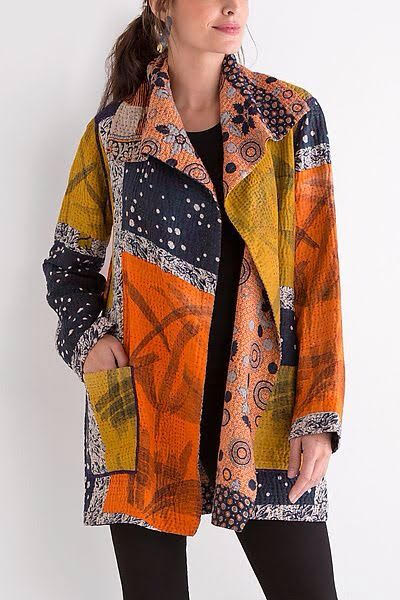 Stylish Kantha long   jacket