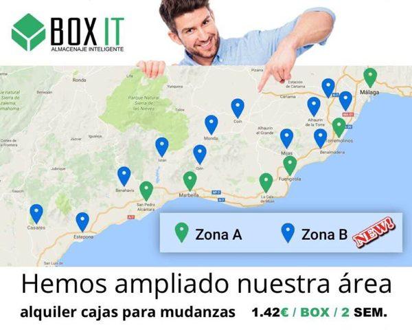 Boxit amplia su área de servicio