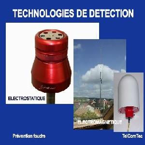 Principe des détecteurs d'orages électrostatiques