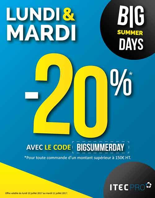 -20% sur tout le site pour les BIG SUMMER DAYS