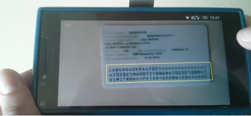 Mobile Passports and ID cards reading with interface to PMS