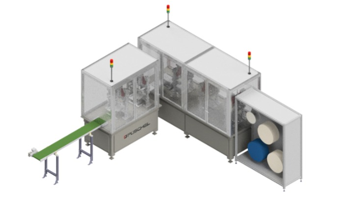 Production systems for protection masks