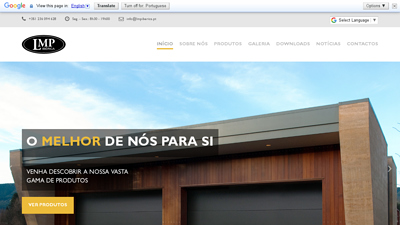 NOVO WEBSITE - LMPERFIS IBÉRICA