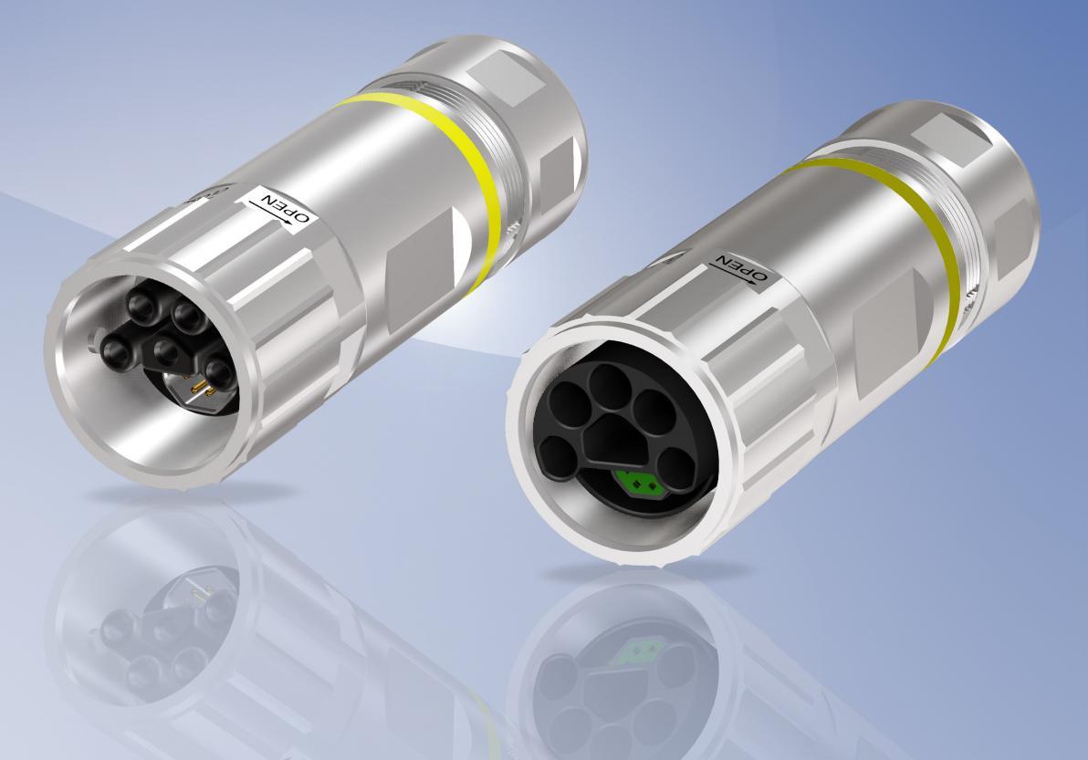 CONEC Hybrid Steckverbinder konfektionierbar