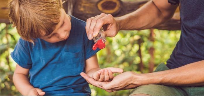 Les enfants et l'utilisation du gel hydroalcoolique