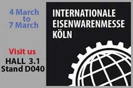 Visit us at International Eisenwarenmesse 2018 Koln, Germany