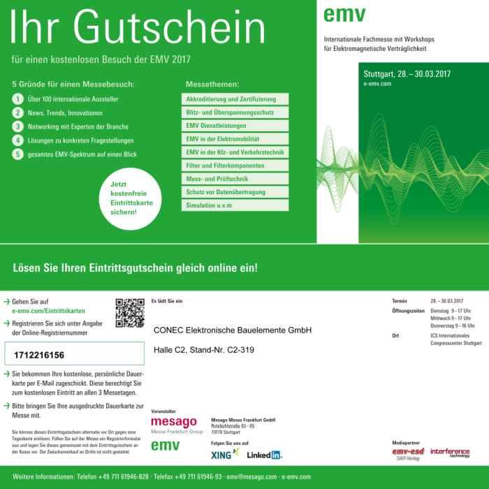 Messe EMV in Stuttgart vom 28.03-30.03.2017