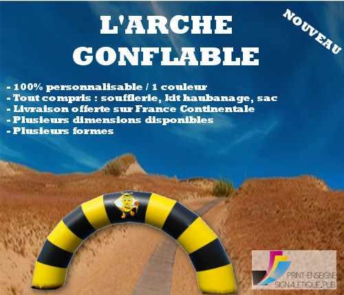 Arche Gonflable Publicitaire Evenementielle personnalisable