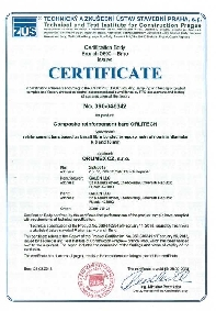 Obtaining the certificate of conformity for BFRP