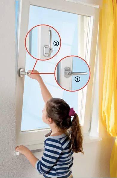 Abertura de segurança da janela