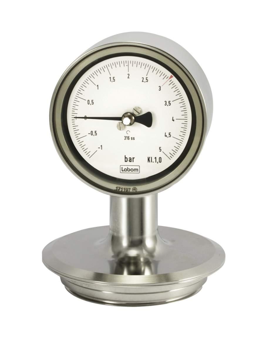 LABOM autoclavable pressure gauge with unique casing design