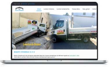 Création d'un site web spécialité location des bennnes