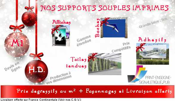 Supports Souples imprimés à vos dimensions + prix degressifs