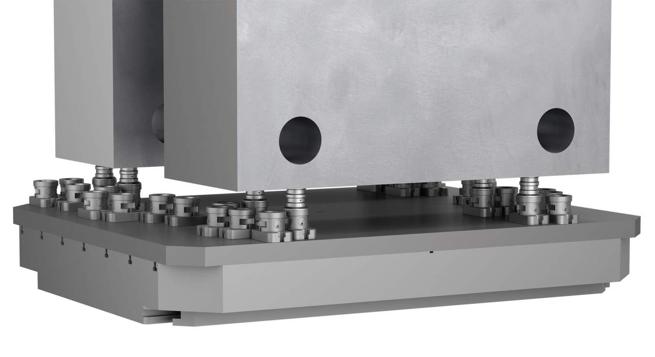 KIPP 5-axis clamping system for 40 tonne workpieces