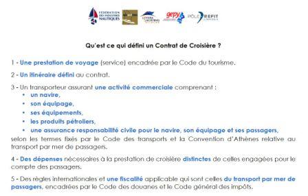 Contrat de Croisière Maritime au lieu de Contrat de Charter?