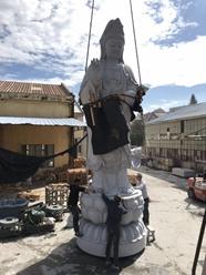 Congratulate Haobo on finishing an amazing baddha statue