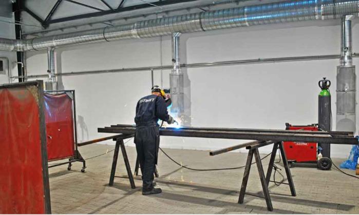 New welding hall