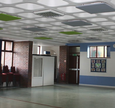 Suspended Acoustic Ceiling Panels – St Andrews Church