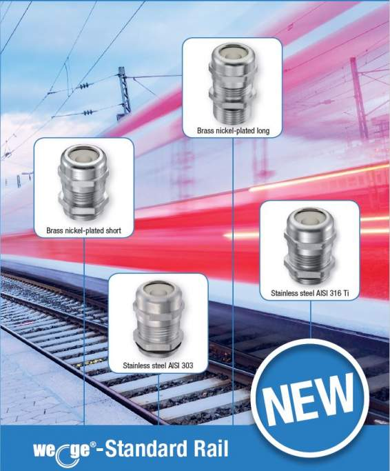 wege® M Standard Rail cable gland