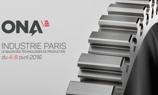 Ona sera présent au Salon Industrie Paris 2016
