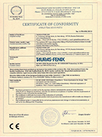 ТАУРАС-ФЕНИКС получил международный сертификат качества